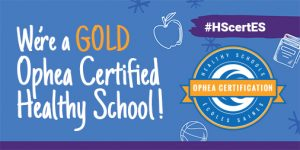 St. Monica CES is a Gold Healthy School!